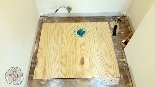 New Subfloor In, Master Bath Remodel, Flooring