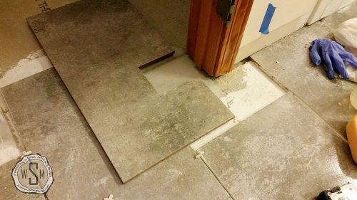 Notching Around Door Casing, Tile, Master Bath Remodel, Flooring