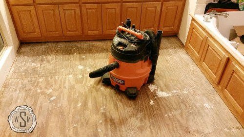 Ready For Cement Board, Master Bath Remodel, Flooring