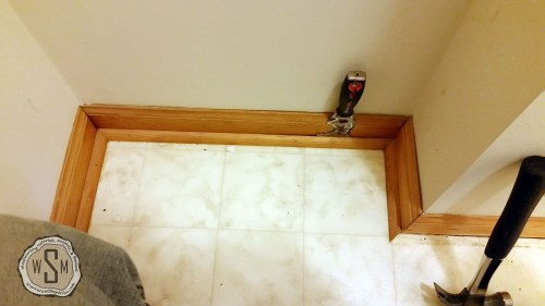 Removing Quarter Round 1, Master Bath Remodel, Flooring