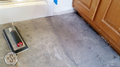 Time For Grout 3, Master Bath Remodel, Flooring