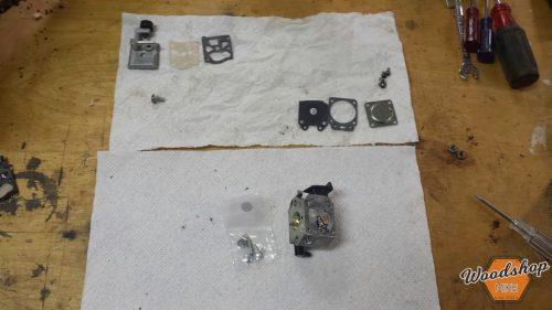 Dissassembly 3-carburetor rebuild