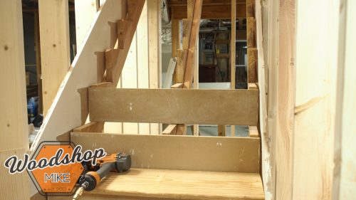 Installing Treads and Risers-building stairs