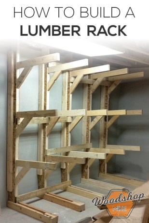 how to make a lumber rack