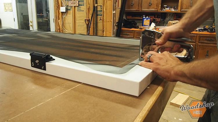 How to Make a DIY Screen Door-Stapling Screen