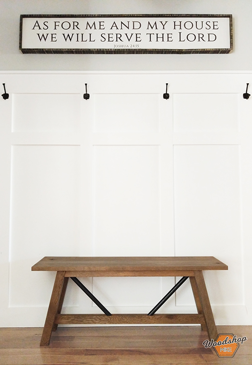 Pinterest Image 2 - DIY Metal and Wood Farmhouse Bench