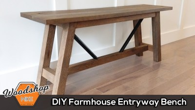 DIY Farmhouse Entryway Bench