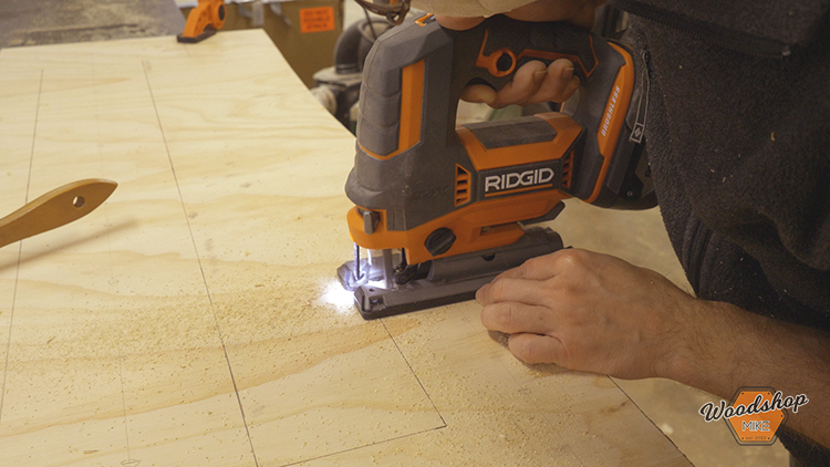 Using Ridgid Octane Jigsaw-How to Make a DIY Vintage Marquee Sign