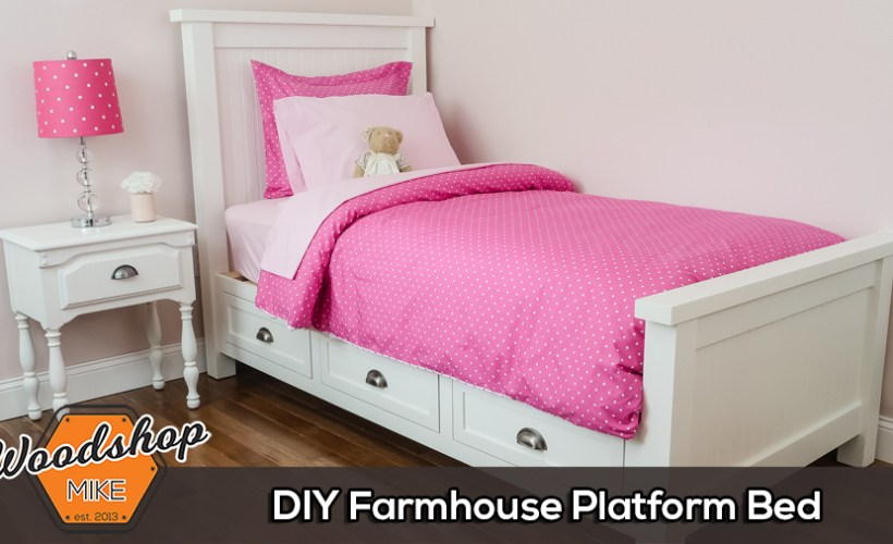 DIY Farmhouse Platform Bed Thumbnail
