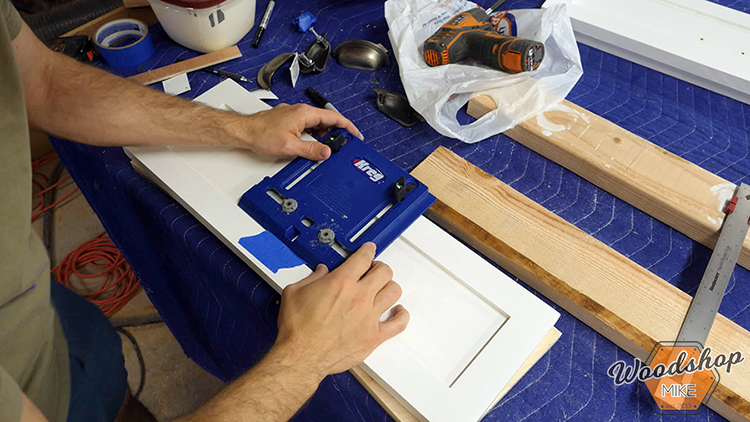 Drawer Hardware Jig DIY Farmhouse Platform Bed