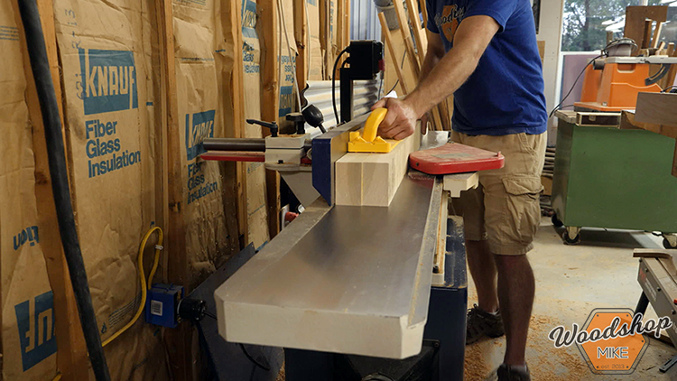 Jointing Lumber DIY Farmhouse Platform Bed