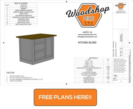 Kitchen Island Free Plans