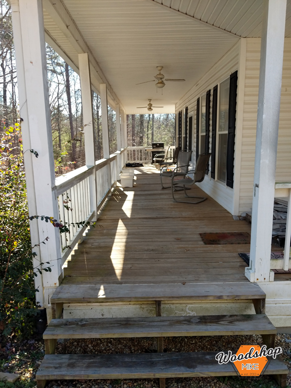 Before, Front Porch Renovation