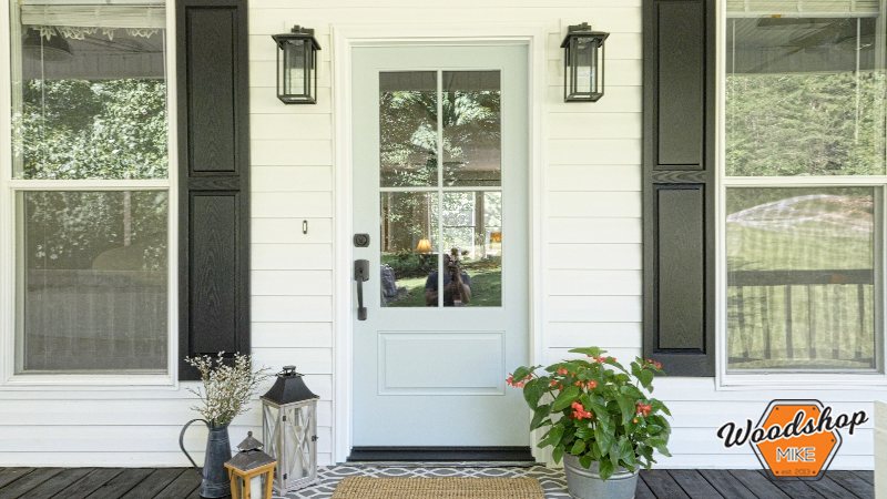 Country Front Door, Front Porch Renovation