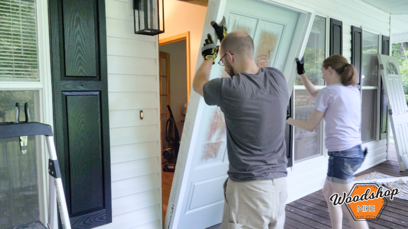 Installing New Door, Front Porch Renovation