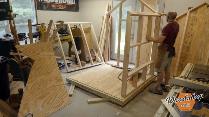 securing shed walls _ How to make a DIY chicken coop