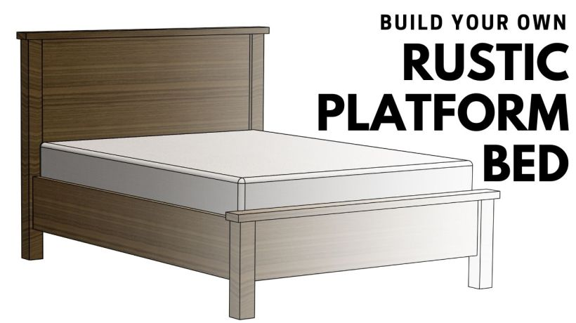 make this easy to build rustic bed