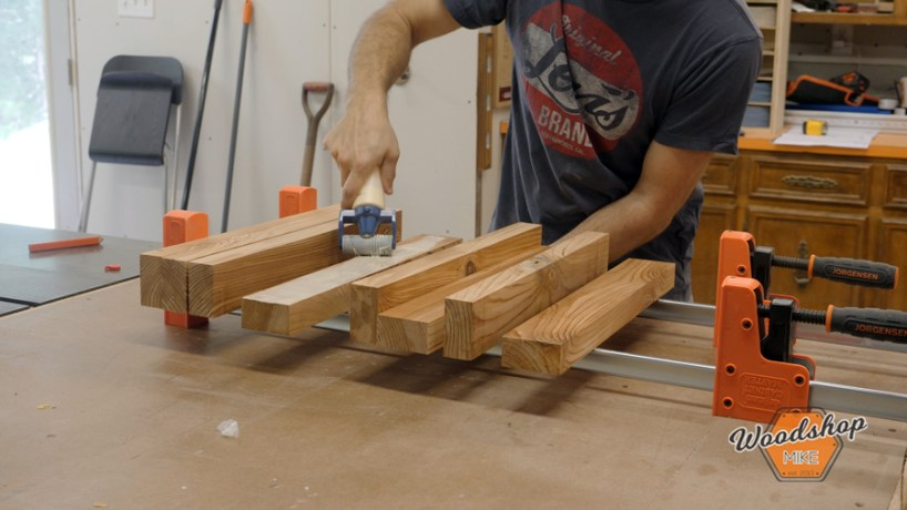 coffee table legs glue up