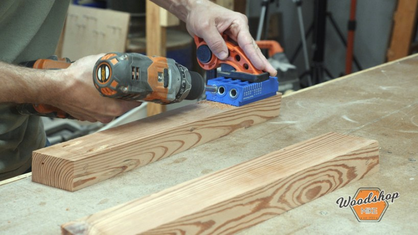 drilling pocket holes with kreg jig guide