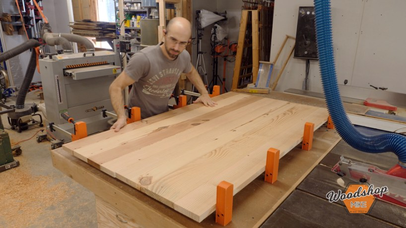 how to glue large panels pony jorgensen cabinet master clamps
