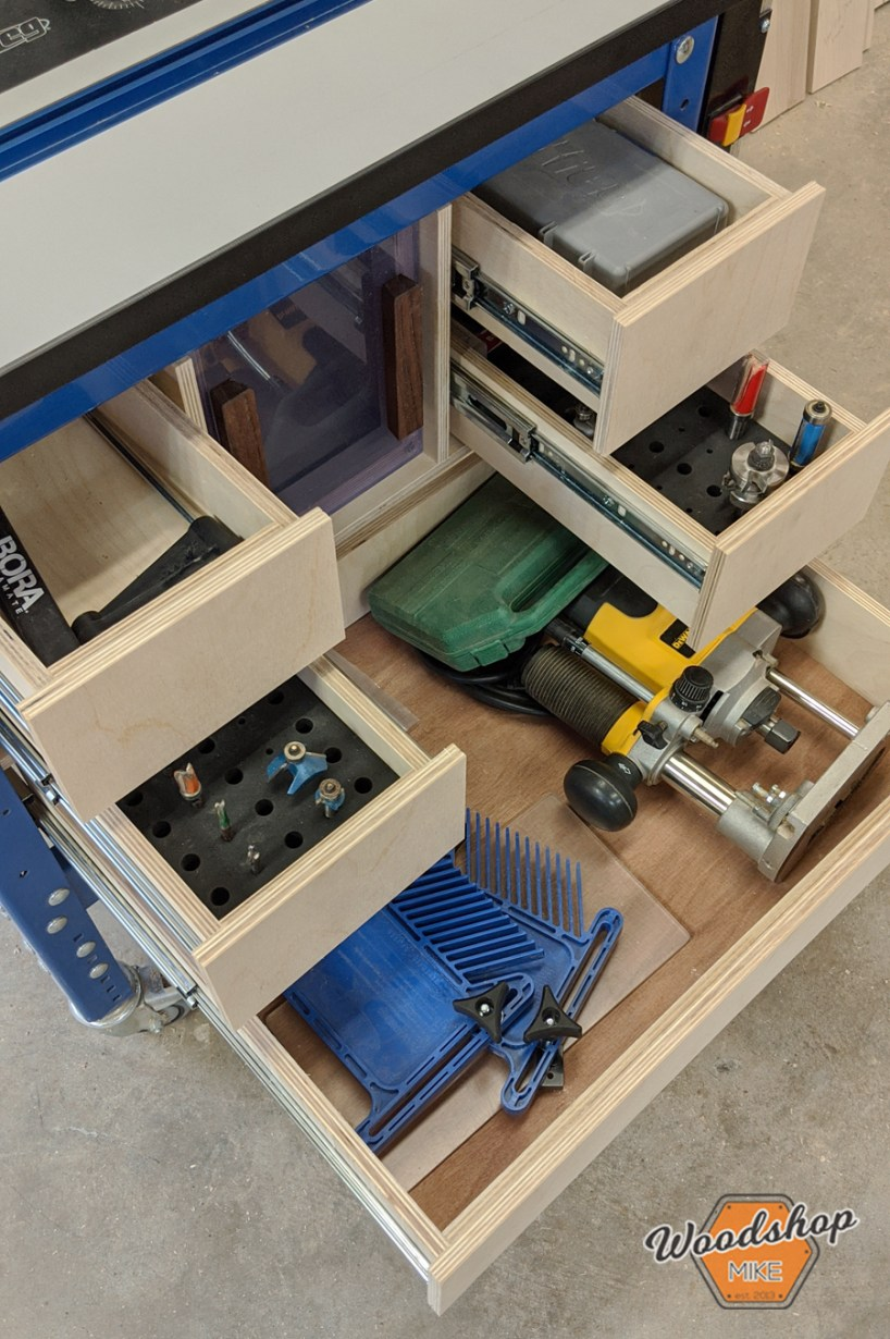 router table storage