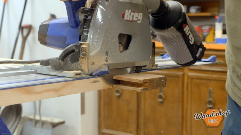 trimming breadboard ends with track saw