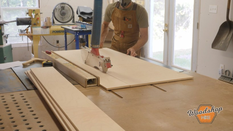 cutting plywood with a table saw