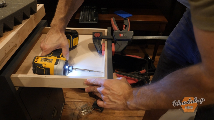 how to attach drawer fronts