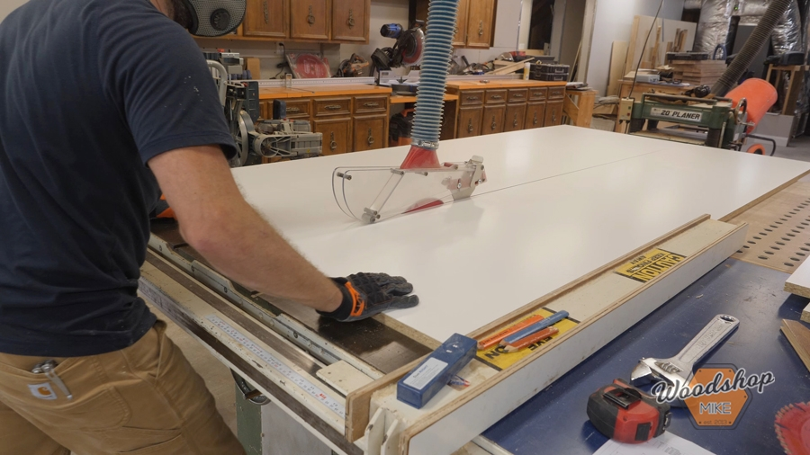 how to cut melamine, concrete countertop