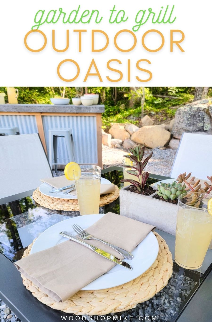 Garden to grill outdoor oasis tablescape