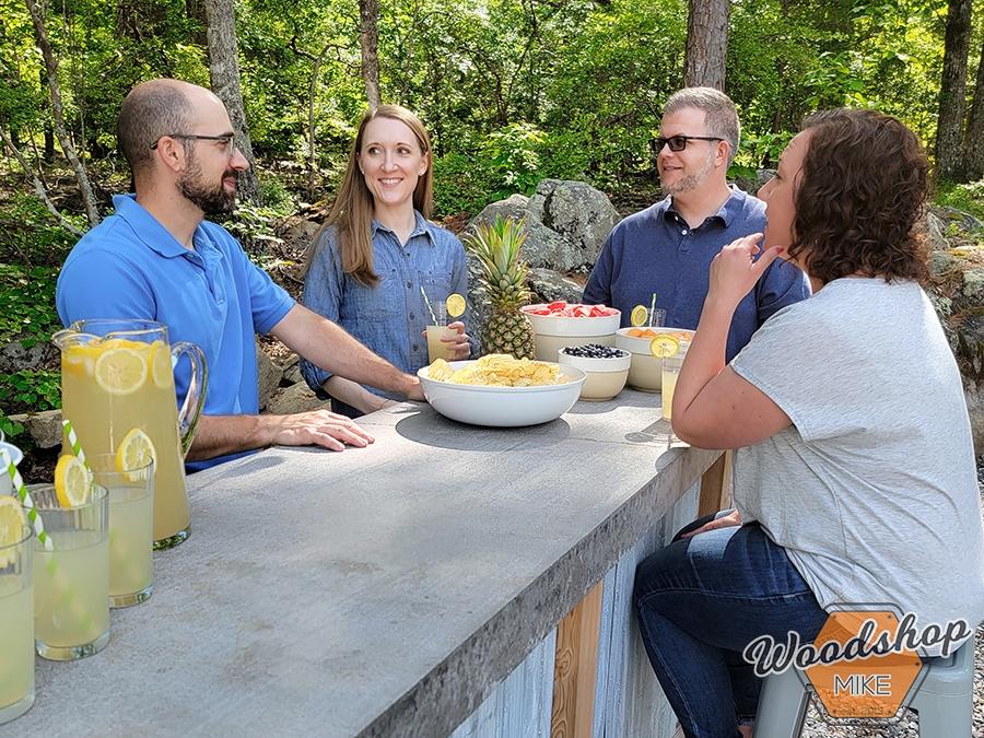 Outdoor entertaining with DIY bar