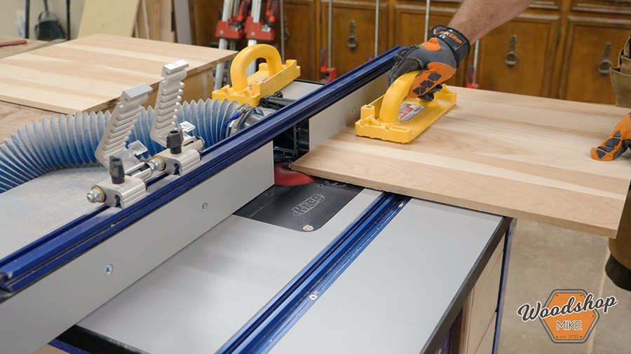 cutting the middle of a raised panel door