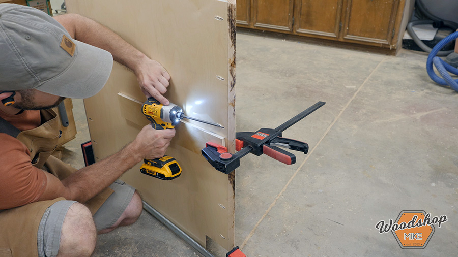 how to attach a cabinet face frame