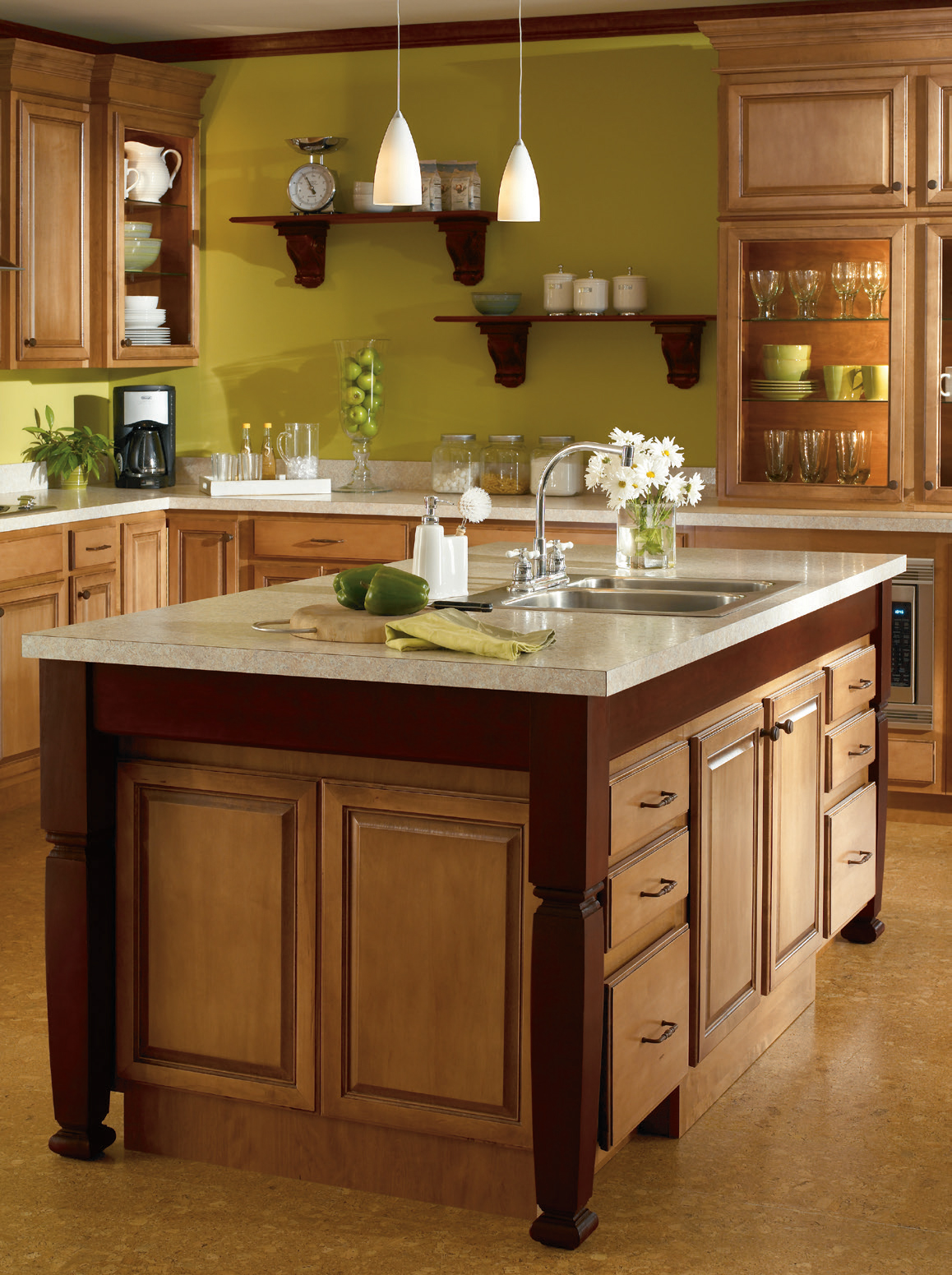 summit kitchens curved kitchen island aristokraft – woodsman_kitchens & floors blog