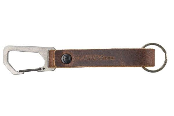 Trayvax Keyton Clip Carabiner Keychain Raw and Mississippi Mud
