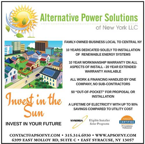 Alternative Power Solutions - NYS Woodsmen's Field Days