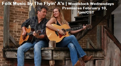 Celebrate Valentines Day with The Flyin' A's and the Woodstock Folk Festival, February 10.