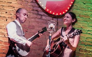 The collaboration of husband and wife Pete and Crystal Damore, their connection, and their influences (such as Gillian Welch, Guy Clark, Anais Mitchell) all meet on stage. ~ Photo by Bobby Villarreal