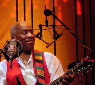 Reggie Harris received the Woodstock Folk Festival's Lifetime Achievement Award in 2015.