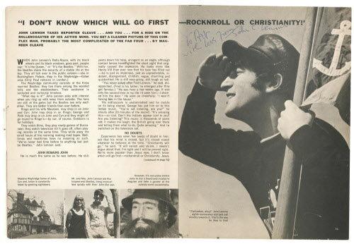 Resultado de imagem para lennon popular christ newspaper