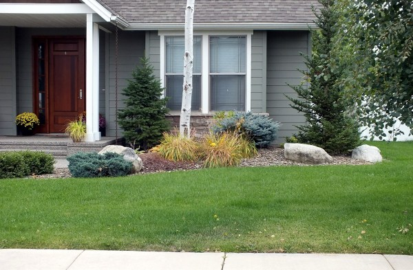 residential front yard woodstone