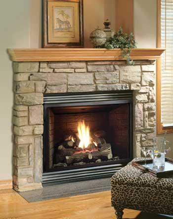 Fireplaces  Gas Fireplaces  Kingsman Gas Fireplace Heater  Millivolt  Propane  ZDV3318LP