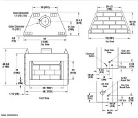 Corner Wood Burning Fireplace Dimensions - Fireplace ...