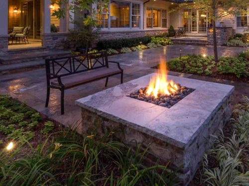 Landscape Design. Fire Feature Example
