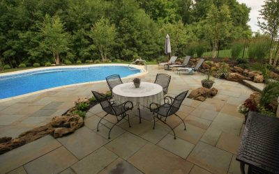 Pool Design Rochester NY sloped backyard