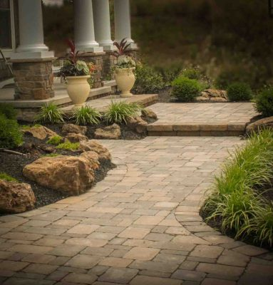 Front yard landscaping Design & Installation Project Rochester NY
