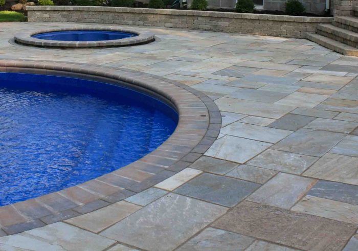 Inground pool costs. Flagstone Pool Patio located in Rochester NY