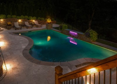 Backyard pools Landscape Lighting