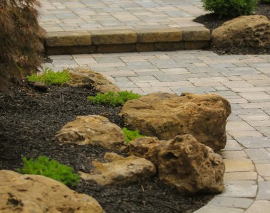 Boulders for front landscape Rochester NY