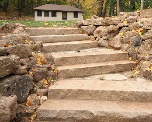 Natural Flagstone Steps Rochester NY